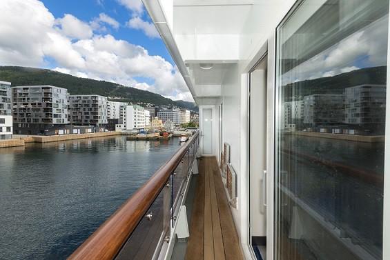 Der Balkon. Foto: Hurtigruten