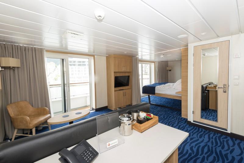 So sehen die Kabinen der Gäste aus. Foto: Hurtigruten