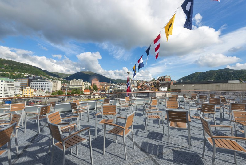 Ausblick vom Deck. Foto: Hurtigruten