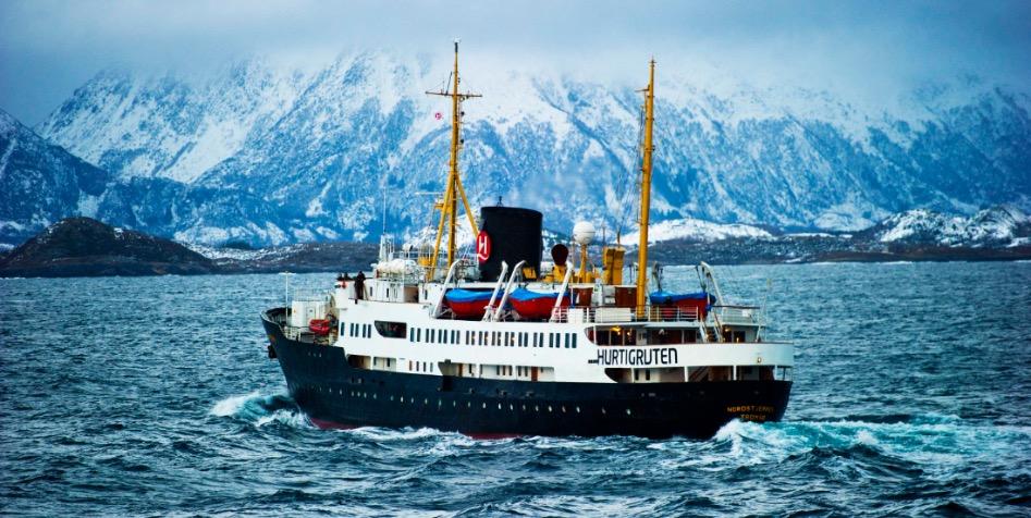 Früher war NORDSTERNEN ein Postschiff Foto: Hurtigruten