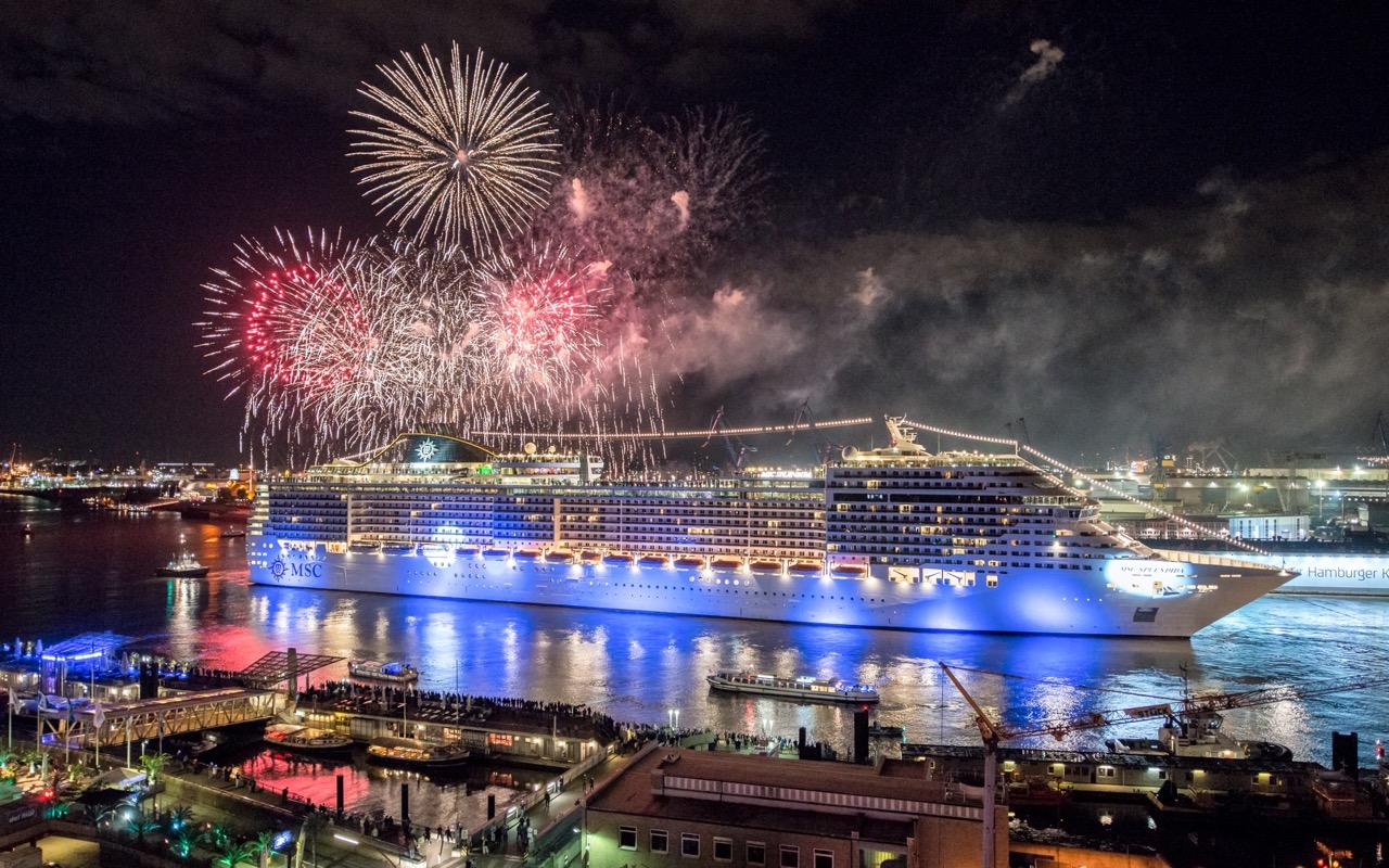Lichtinstallation Micheal Batz  Foto: MSC Cruises
