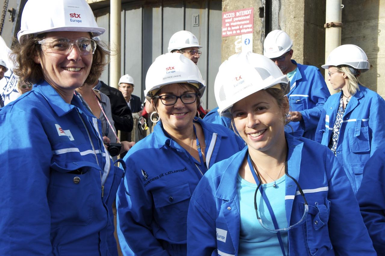 Sandrine Baley und ihre Kolleginnen sind für die Schiffselektrik zuständig. Foto: MORE THAN CRUISES