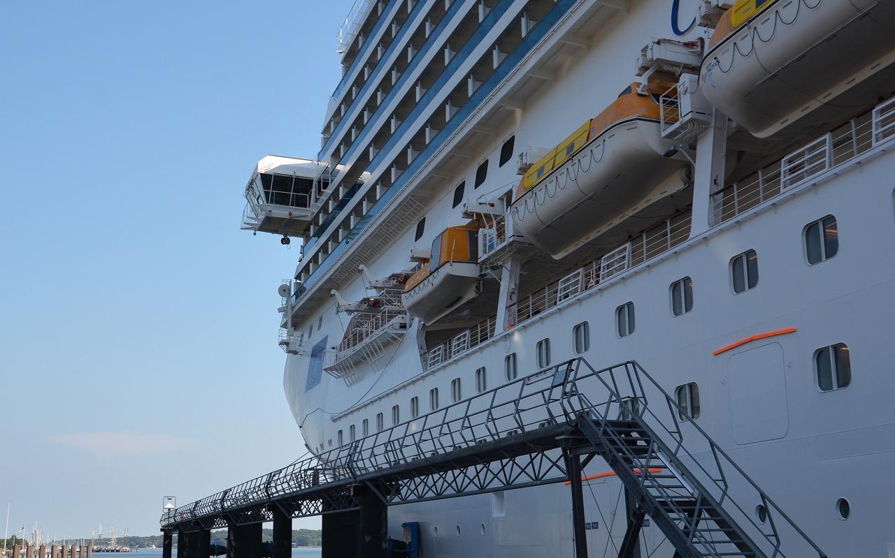 COASTA PACIFICA am Ostseekai in Kiel Foto: Port of Kiel