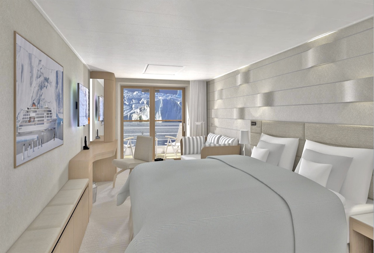 Eine der zukünftigen Balkon Kabinen Foto: Hapag-Lloyd Cruises