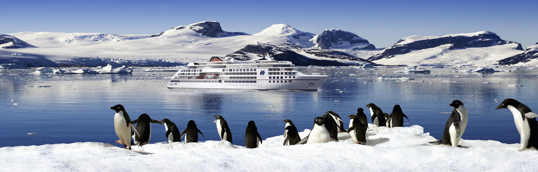 Die Antarktis ist eines der Ziele für die neuen Expeditionsschiffe Foto: Hapag-Lloyd Cruises