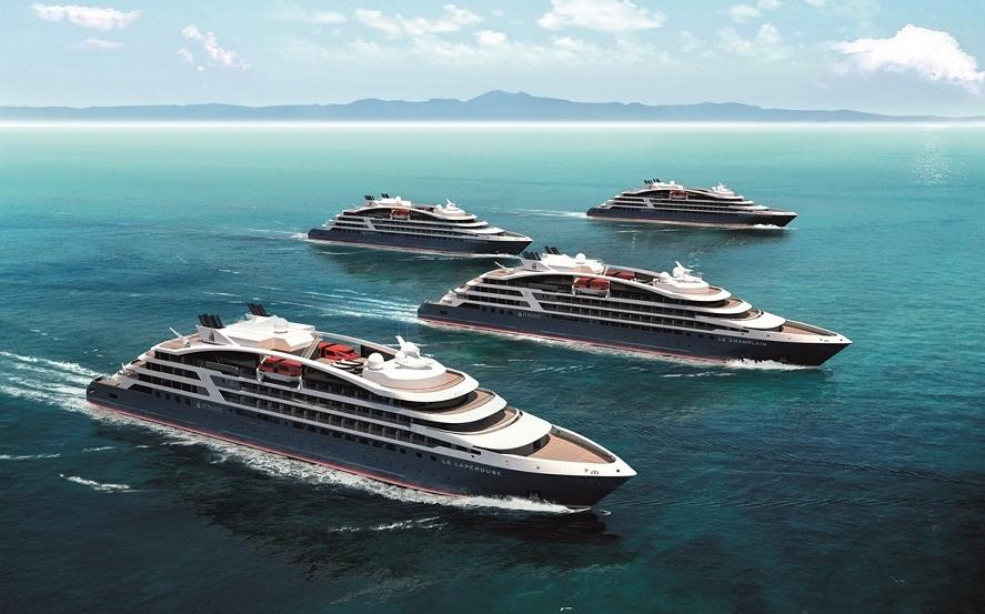 Die vier neuen Schiffs-Ladys in der Flotte der französischen Reederei Ponant Foto: Ponant/Sterling Design International