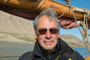 Harald Schmitt in Grönland, im Scoresby Sund.