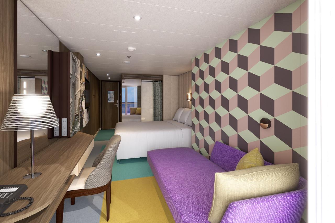 Die neue Kabine Venezia auf der zukünftigen COSTA SMERALDA