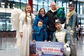 Rekord: Hamburg begrüßt den 700.000sten Kreuzfahrt-Gast