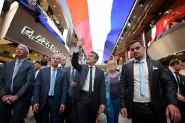 MSC MERAVIGLIA: der französische Präsident und die erste Flagge