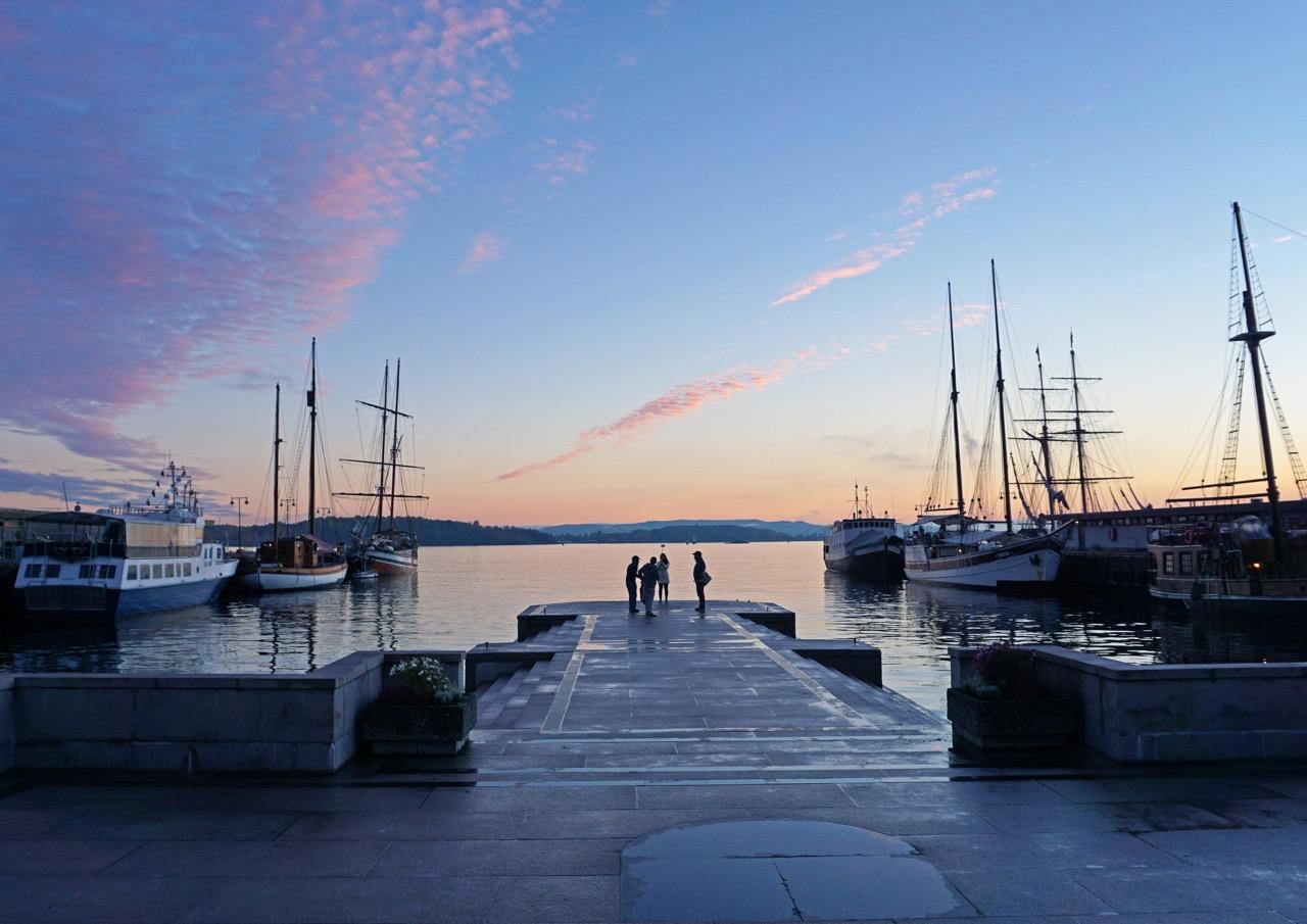 Blick von Oslo auf den Fjord