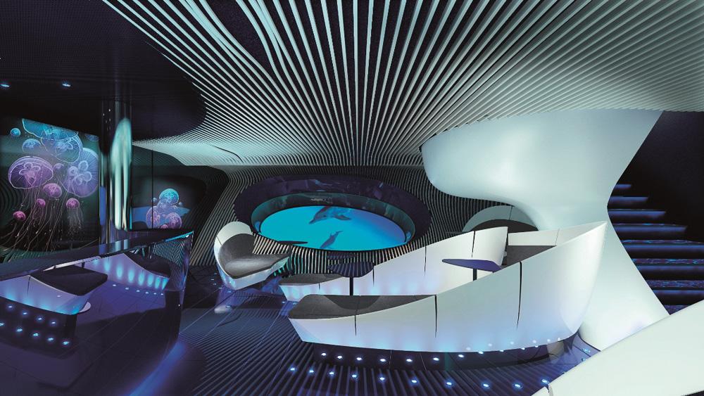 PONANT - Dem Meer ganz nah in der Underwater Lounge Blue Eye (c) Ponant - Jaques Rougerie Architecte-2